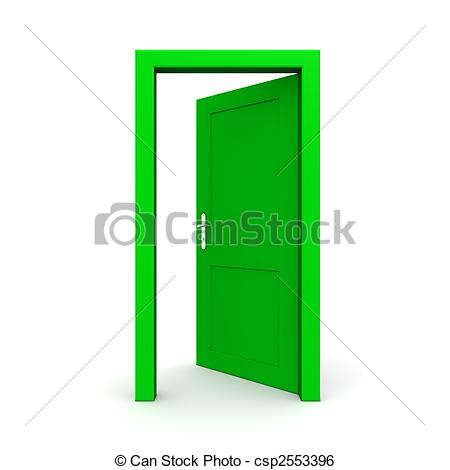 450x470 Stylish Open Door Drawing With Open Door Drawing Render Isolated