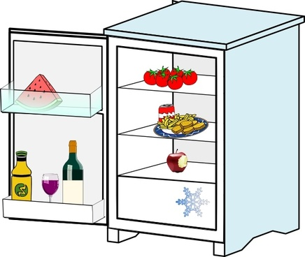 436x368 Fridge Free Vector In Open Office Drawing Svg ( Svg ) Vector