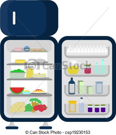407x470 Open And Full Fridge Of Food Like Carrots, Apples, Lettuce