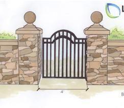 243x212 Garden Entrance Drawings Garden Gate Ideas Wrought Iron, Wooden