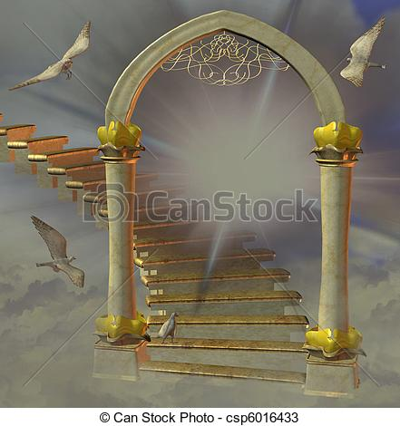 441x470 Gates Heaven Illustrations And Clipart. 612 Gates Heaven Royalty