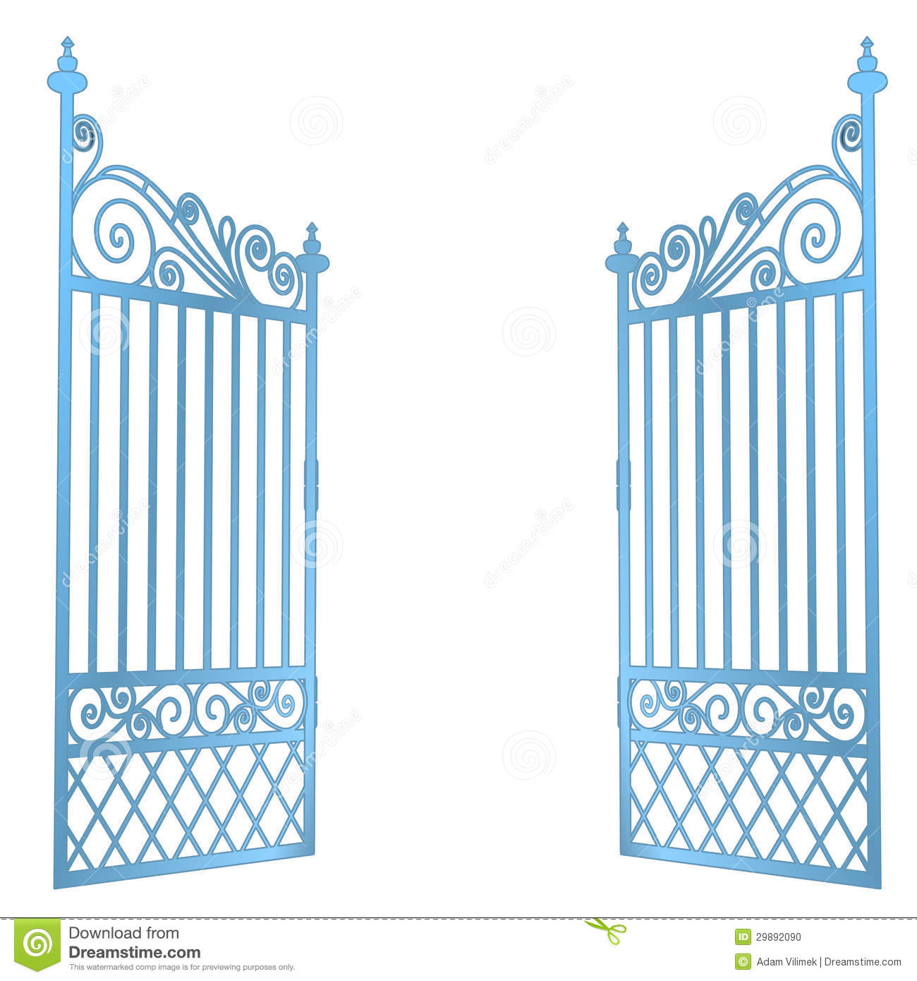 1300x1390 Heavens Open Gate Clipart