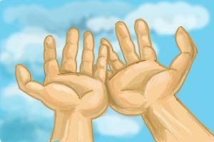 300x200 How To Draw Open Hands