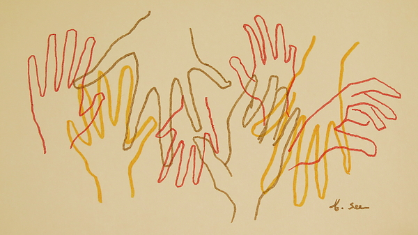 600x337 Open Hands Drawing Photograph By Bonnie See