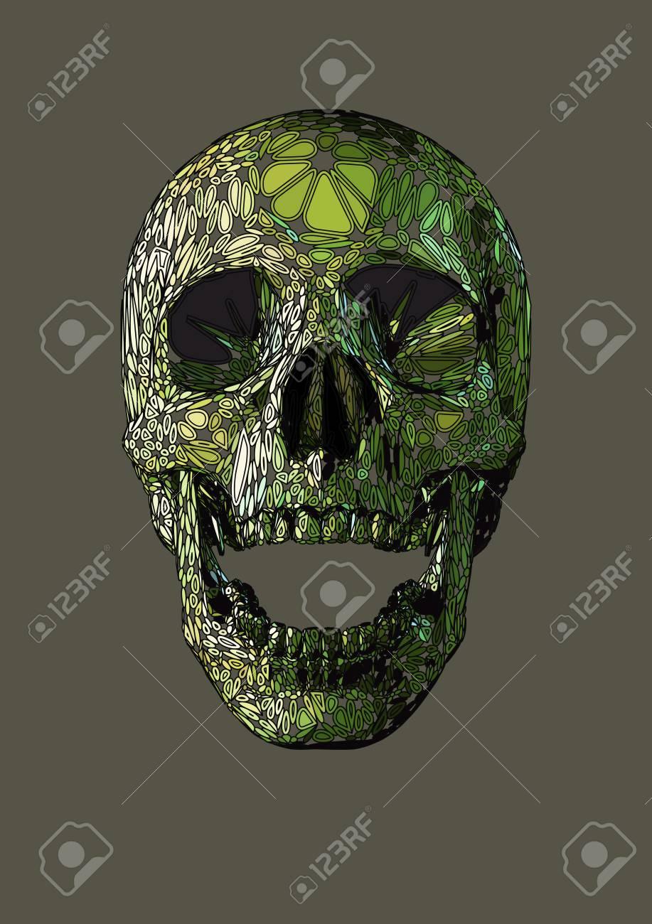 917x1300 Vector Skull Front Open Jaw Drawing,human Boho Ornamental Blob