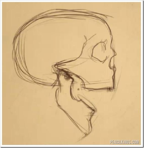 570x586 Drawing An Open Mouth Skull Sketch Drawing Skull