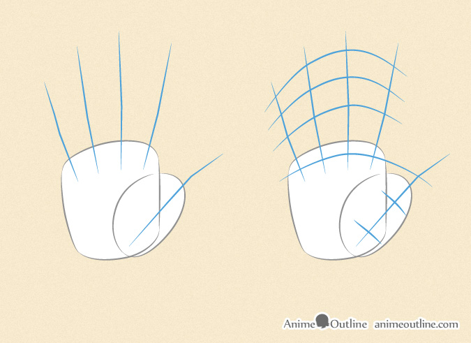 675x491 How To Draw Anime Hands Step By Step Anime Outline