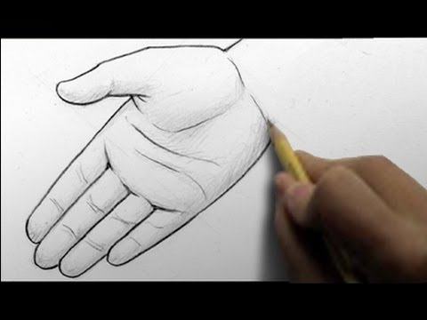 480x360 How To Draw Hands, 2 Ways (Open Palm, Writing)