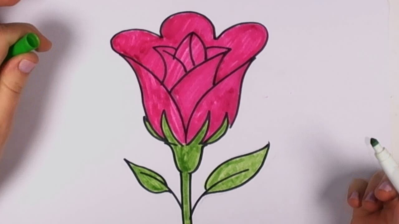 1280x720 How To Draw A Rose Easy