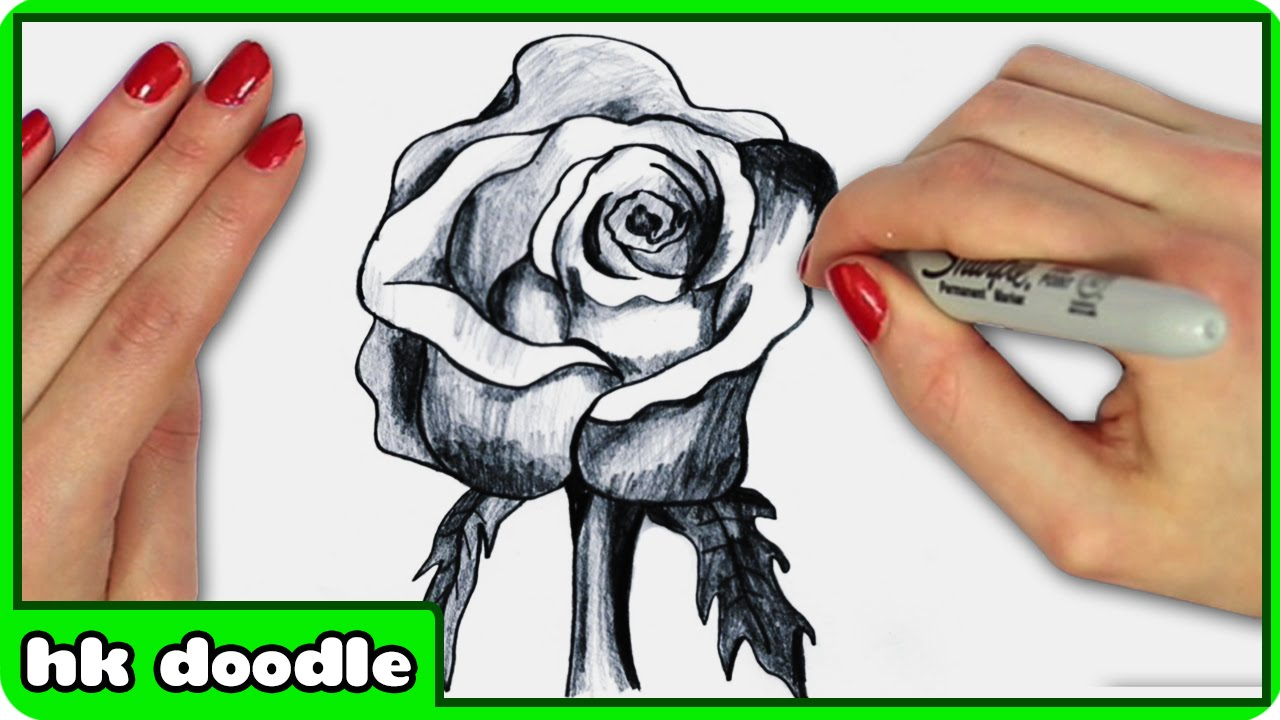 1280x720 Drawing How To Draw A Rose Step By Step For Beginners Slow Plus