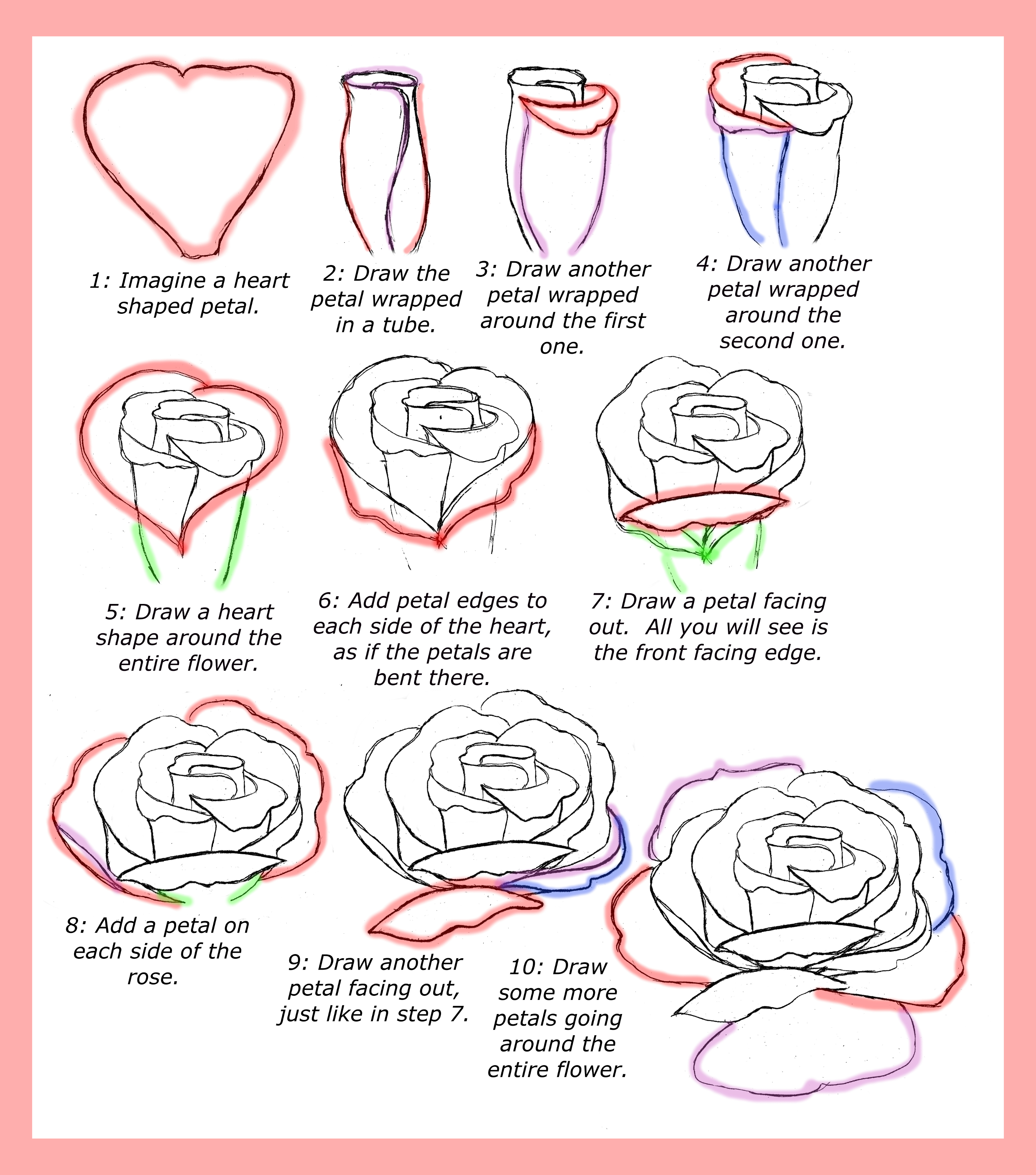 2800x3175 Drawing Roses Step By Step How To Draw An Open Rose