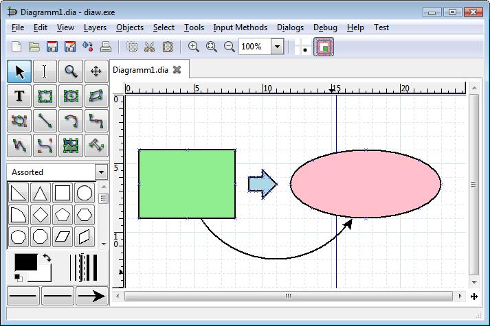 713x475 Dia Draws Your Structured Diagrams Free Windows, Mac Os X