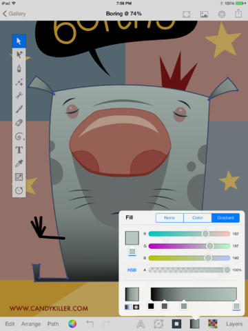 360x480 Example An Open Source Full Featured Vector Based Drawing App