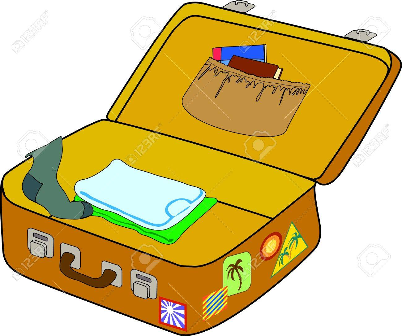 open suitcase drawing at getdrawings com free for personal use rh getdrawings com open empty suitcase clipart Suitcase with Clothes