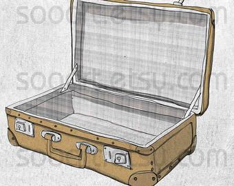 340x270 Decoupage Suitcase Etsy Uk