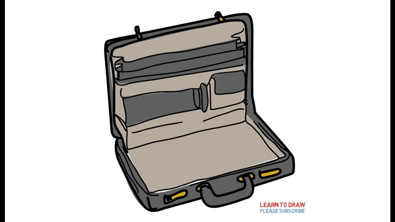 1280x720 How To Draw A Briefcase Step By Step For Kids
