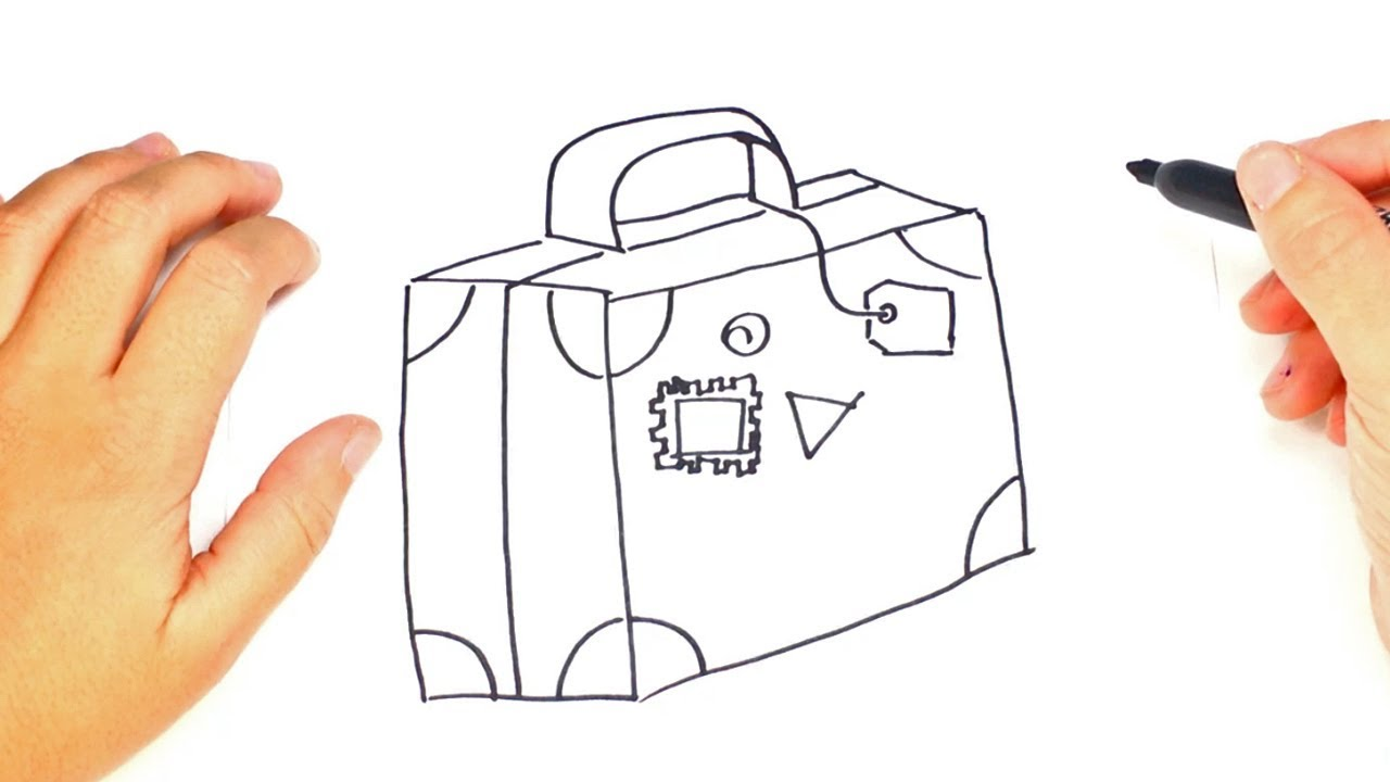 1280x720 How To Draw A Suitcase Step By Step Easy Drawings
