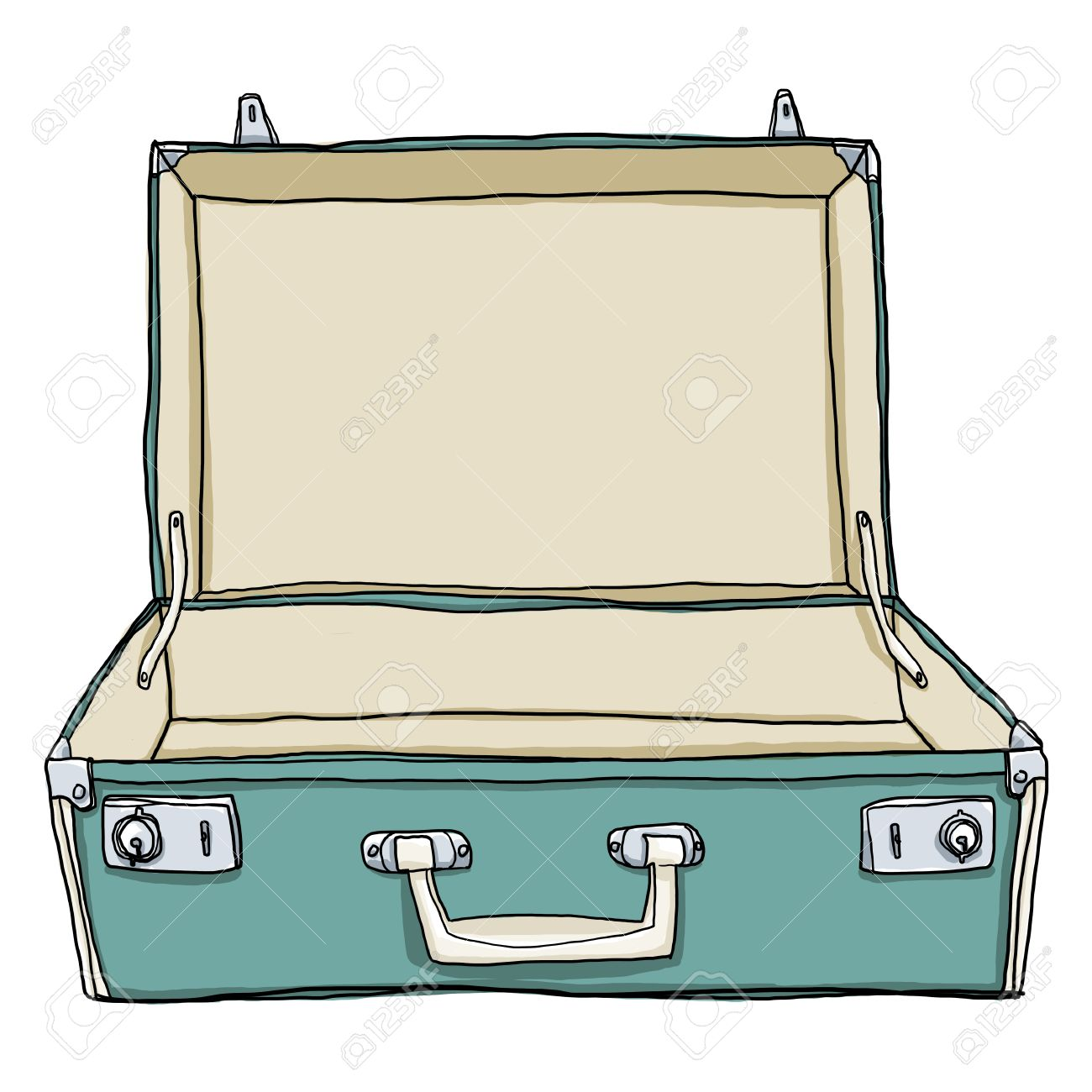 1300x1300 Vintage Luggage Amp Suitcases Travel Open Is Empty Cute Illustration