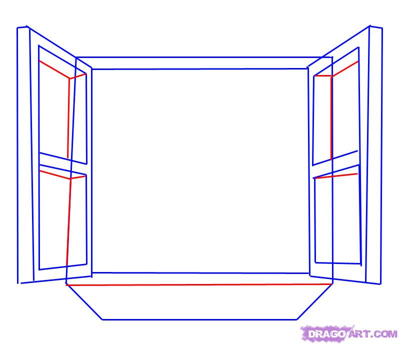 800x690 Como Desenhar Uma Janela Aberta Passo A Passo 5 Desenhos