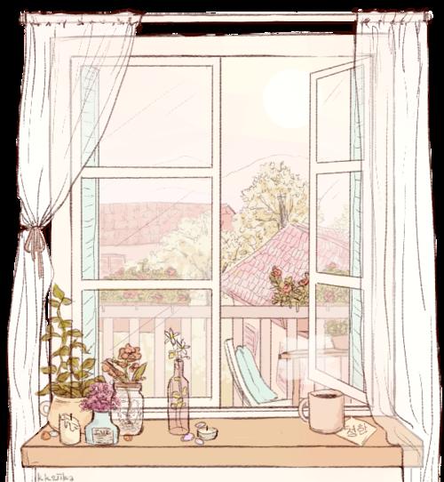 500x542 Open Window Drawing