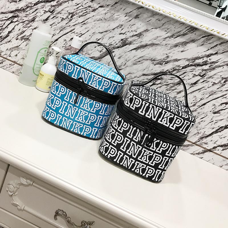 800x800 Love Pink Cosmetic Bag Double Zipper Handbag Portable Storage Bag