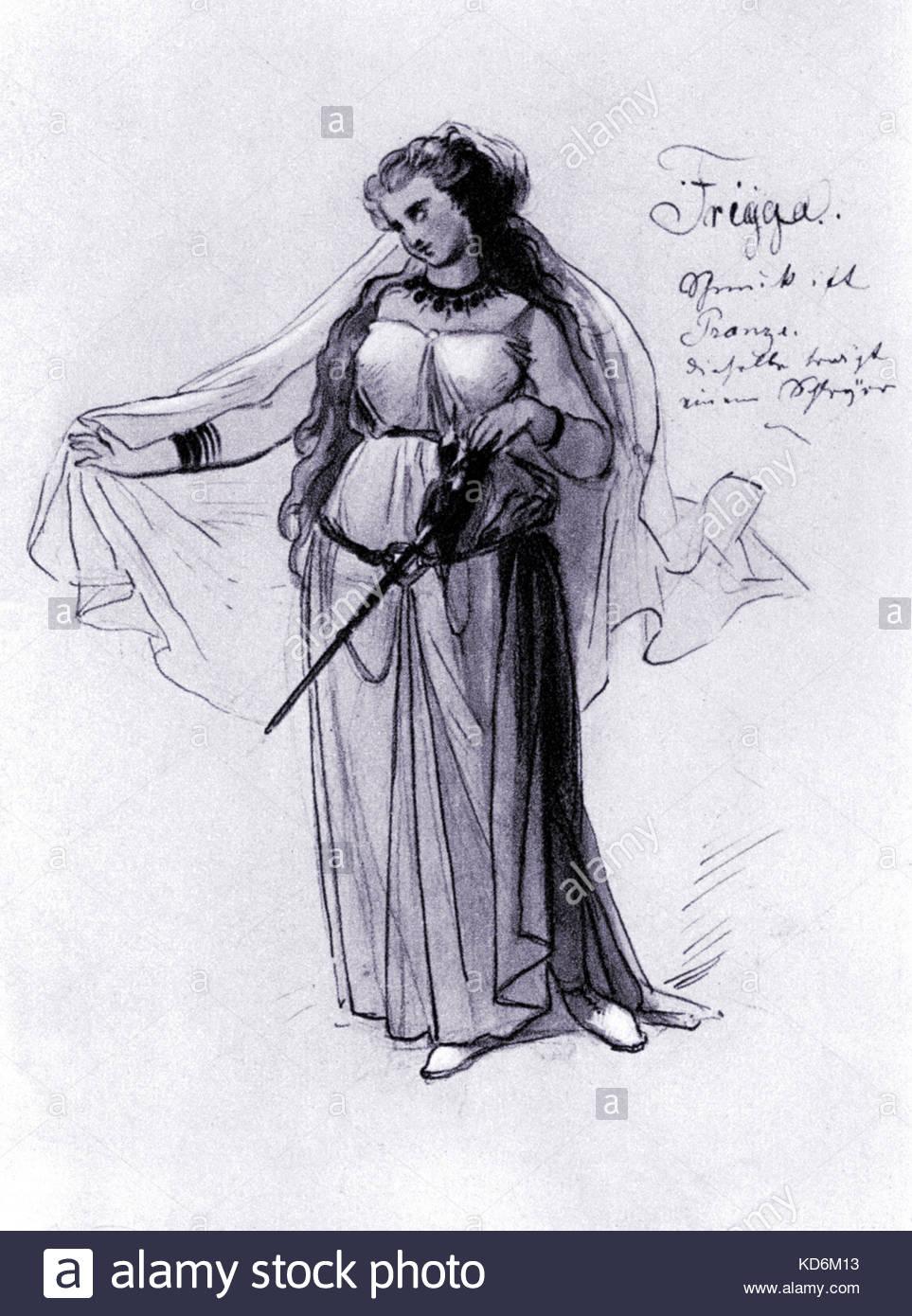 963x1390 19th Century Opera Singer Myth Drawing Art Artist Stock Photos