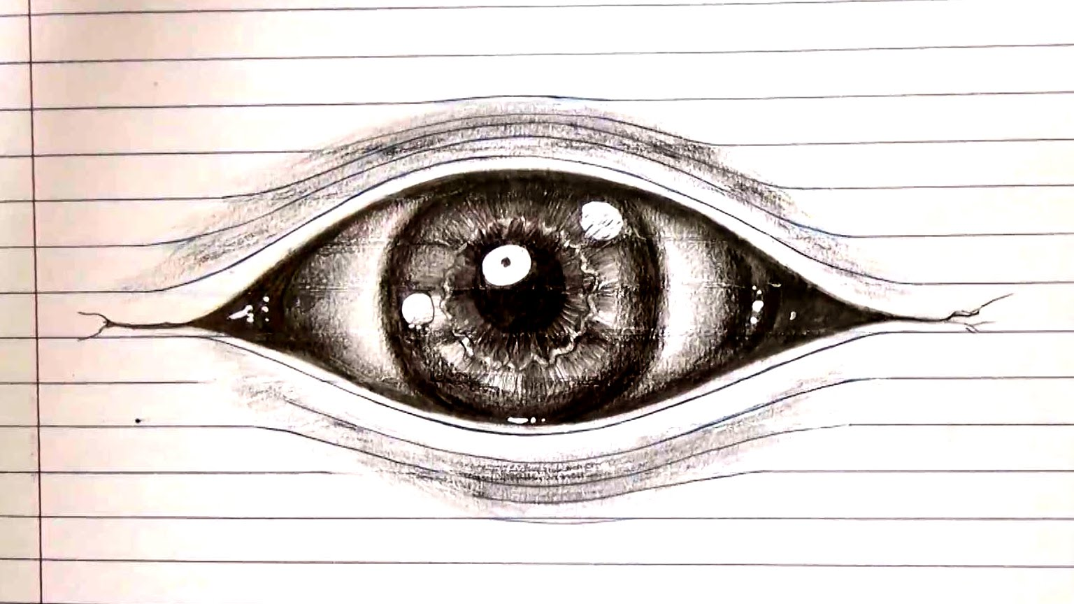 1536x864 To Draw An Eye Optical Illusion Drawing On Lined Paper