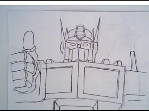 480x360 Drawing Cartoon Faces (Optimus Prime From The Transformers, Ep 145