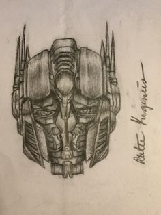 236x314 I Drew Optimus Prime's Face Myself Wout Tracing And I'M So Happy