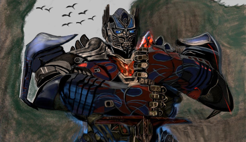 1024x590 Optimus Prime Bay Verse On Optimus Megatron Art