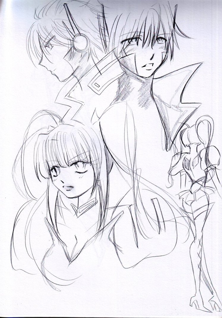 747x1068 Sketches Of Optimus Prime And Starscream Human By Animejanice
