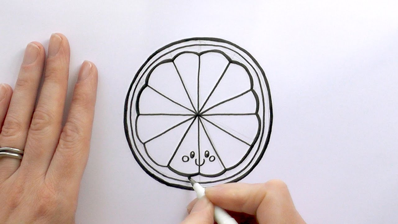 1280x720 How To Draw A Cartoon Slice Of Orange