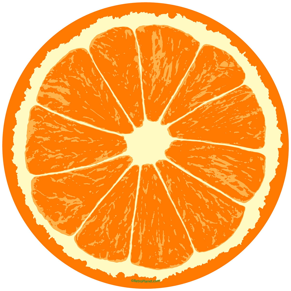 1200x1200 Orange Fruit Slice Citrus Kitchen Wall Decal Removable Wall