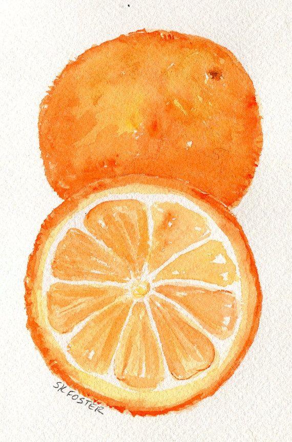 570x864 Oranges Painting, Oranges Watercolors Paintings, Fruit Wall Art 4