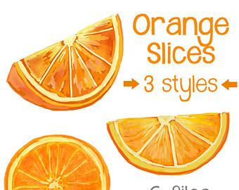 340x270 Small Original Partially Peeled Orange Slice Home Decor Still