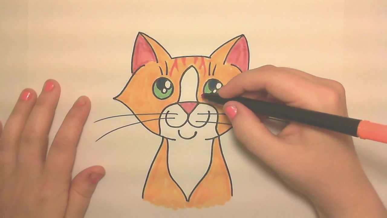 Orange tabby cat drawing at getdrawings free for personal use 1280x720 learn to draw a cute orange tabby cat face thecheapjerseys Choice Image