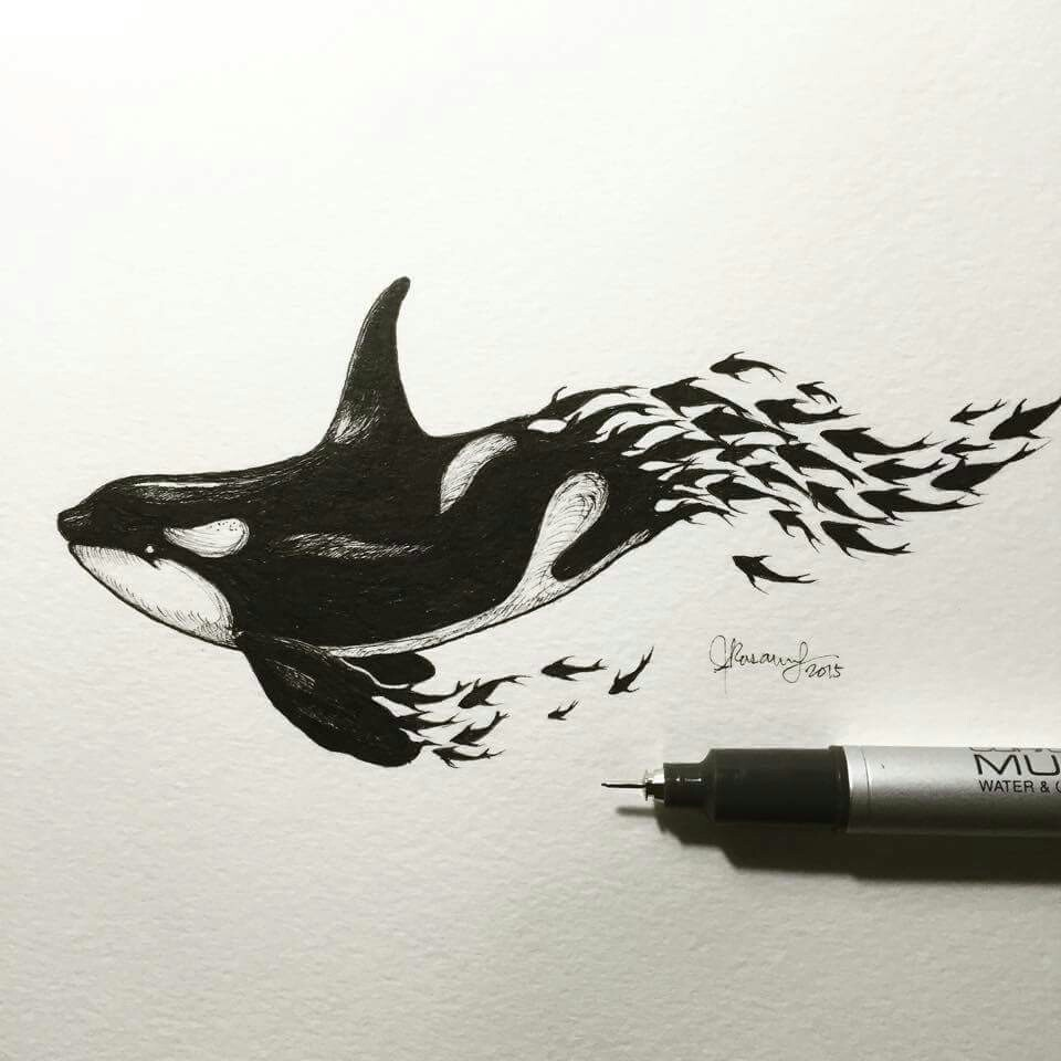 960x960 Whale Sketch. This Drawing Reminds Me Of How Depletion Of Fish