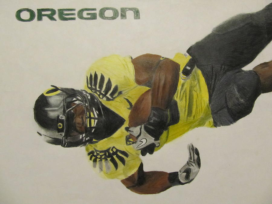 900x675 Oregon Ducks Lamichael James Drawing By Ryne St Clair