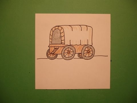 480x360 Let's Draw A Covered Wagon!