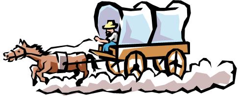 486x197 Oregon Trail Wagon Clipart