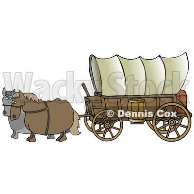 400x400 Trail Wagon Clipart
