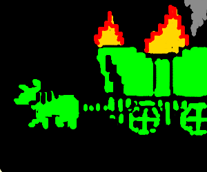 300x250 Wagon Catches Fire On The Oregon Trail