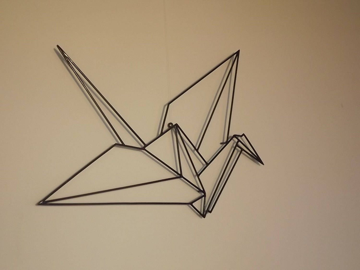 1500x1125 FREE SHIPING Origami Crane Japanese Wall Sculpture