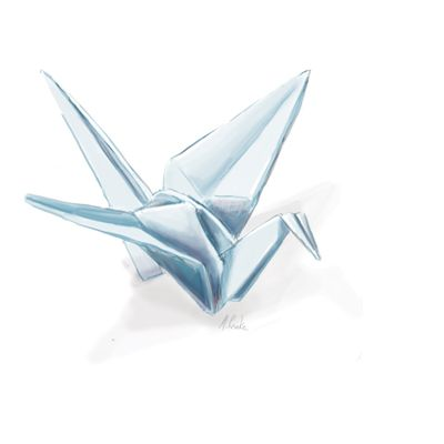 400x400 Origami Crane Drawing Drawings Ideas Origami