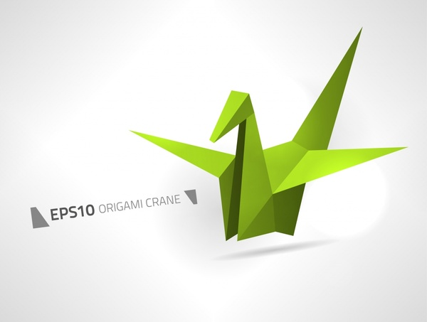 600x453 Origami Crane Free Vector In Open Office Drawing Svg ( Svg
