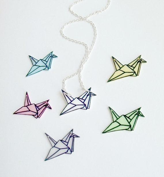 570x618 Origami Crane Necklaces Created By Vixie Dean Of Matin