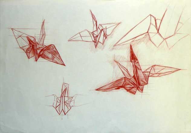 450x470 Origami Crane Sketch 632x440 SDooley