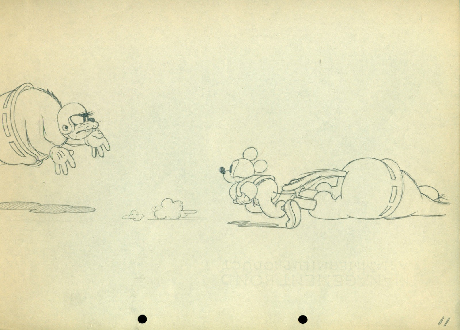 1600x1148 Original Walt Disney Production Drawing From Touchdown Mickey