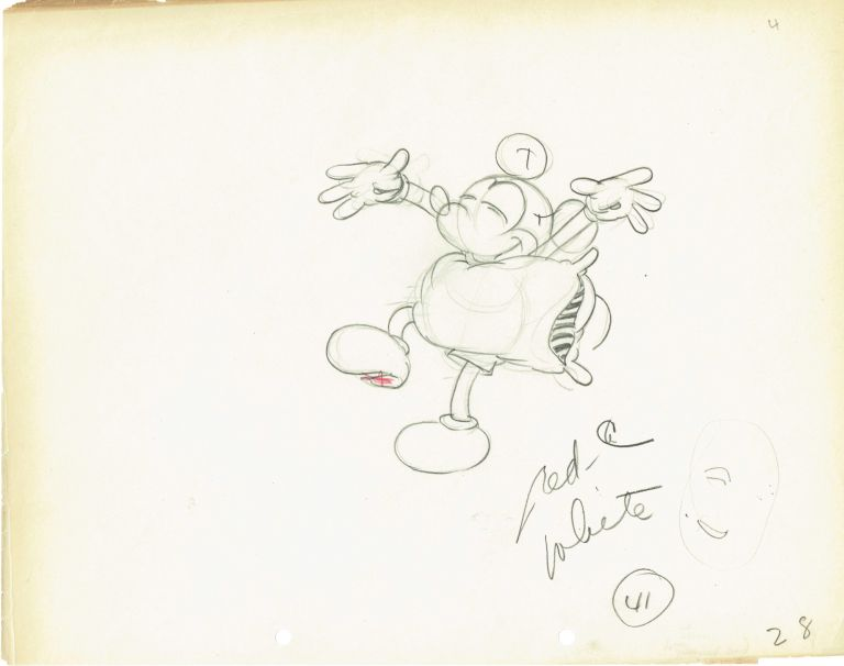 768x606 Original Drawing Of Mickey Mouse Walt Disney