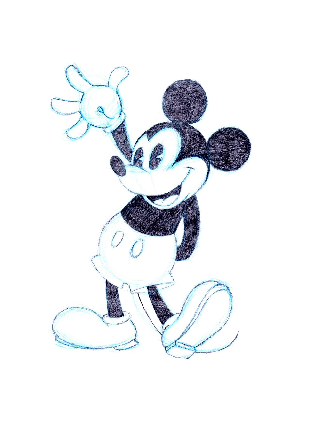 1275x1755 Pictures Of Mini And Mickey Mouse Cartoon Drawinga Mickey Mouse